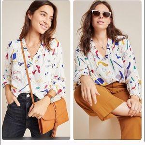 NWT Anthropologie Marisol ruffled blouse